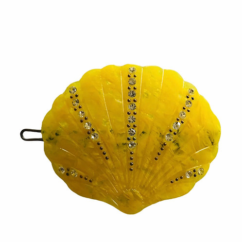 Pico Haarspange Muschel gelb