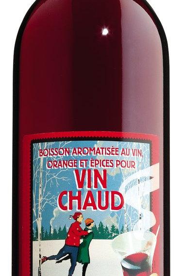 Vin Chaud, Glasflasche AU FAISAN DORÉ, FRANKREICH  Glühwein aus Frankreich
