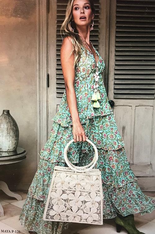 MISS JUNE Robe Dress Maya Aqua