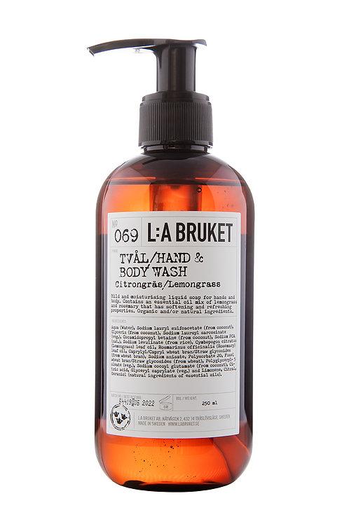 L:A Bruket 069 Hand & body wash, Lemongrass, 250 ml