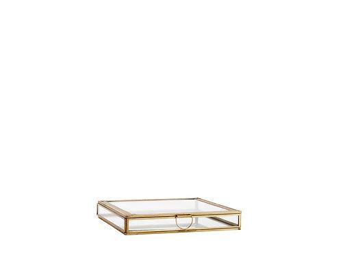 GLASS BOX W/ ENGRAVINGS