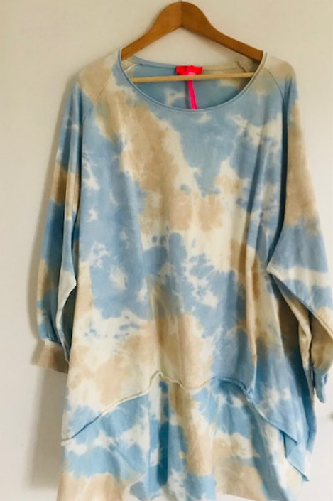 Lebensart Sweatshirt oversize Batik