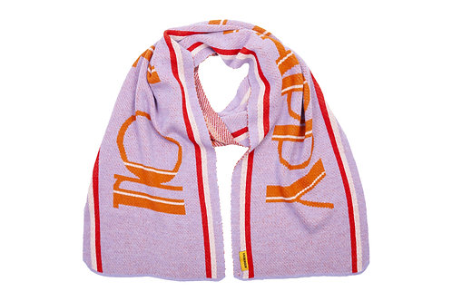 LIV Bergen Scarf Happy lilac breeze orange