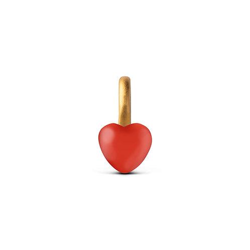 Enamel Charm Heart red