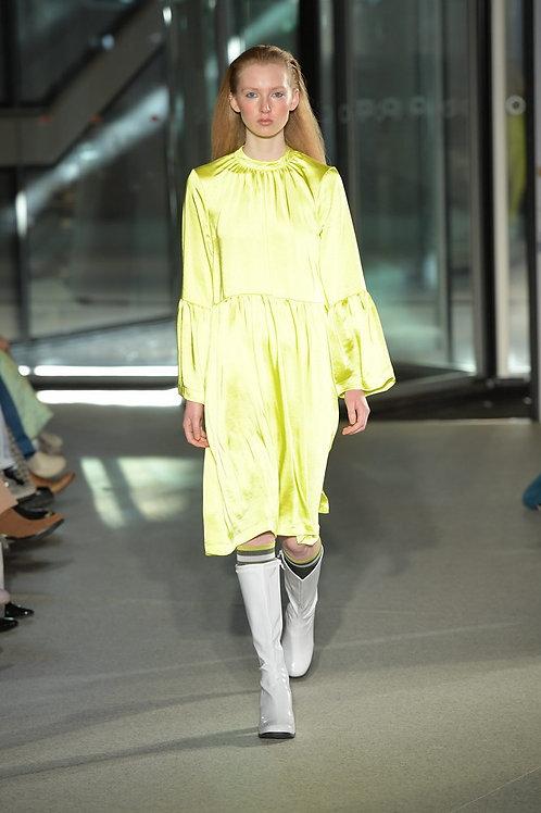 Pile Dress neon yellow