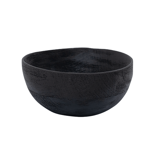 URBAN NATURE CULTURE SERVING BOWL SMOKED WOOD