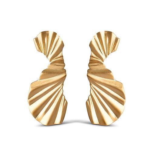 Enamel Big Wave Earring