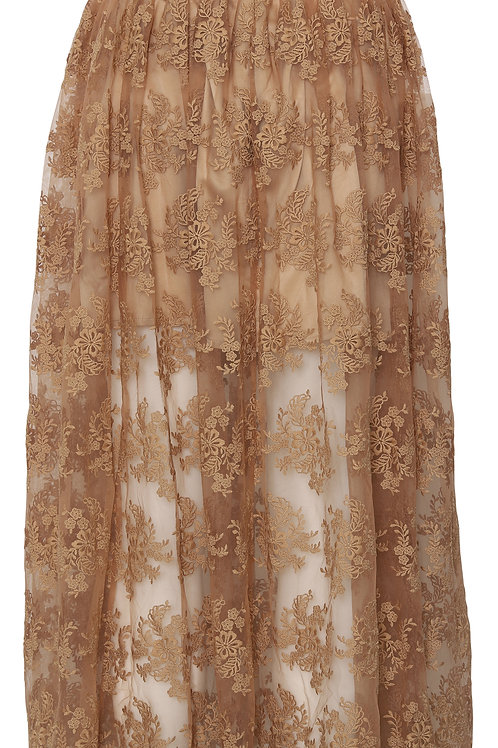 CUSTOMMADE Zenia Skirt Indian Tan Khaki