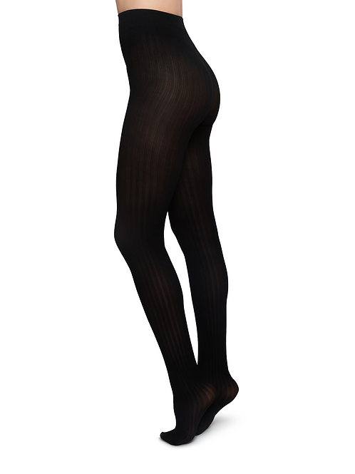 Swedish Stockings Alma Rib Tights black