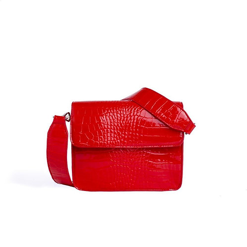 Cayman Shiny Strap Bag red