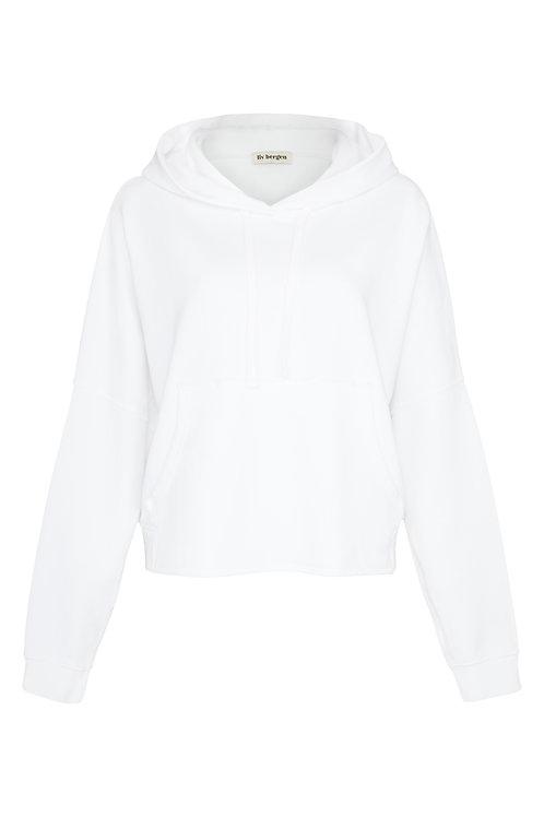 Liv Bergen Hoodie Cropped Organic white
