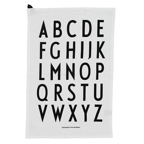 Design Letters Geschirrtuch weiss