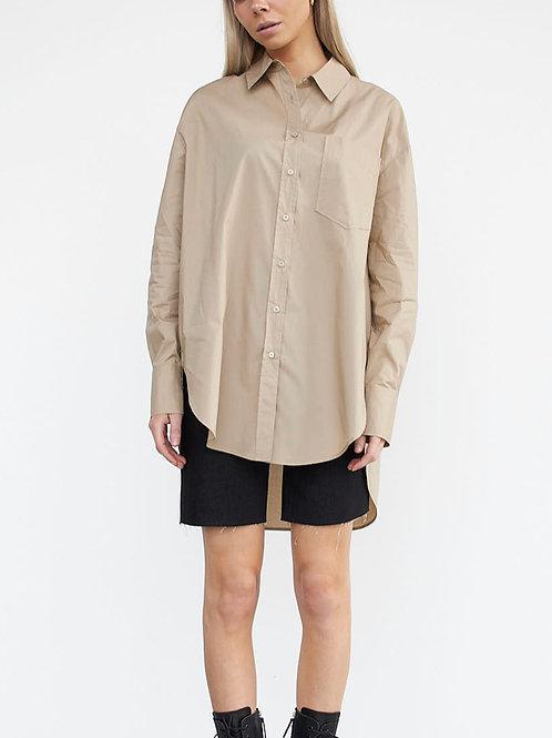 STYLESTORE Hannah Pop Oversized Shirt dark sand