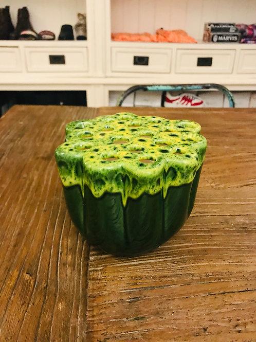 Vase grün Keramik klein