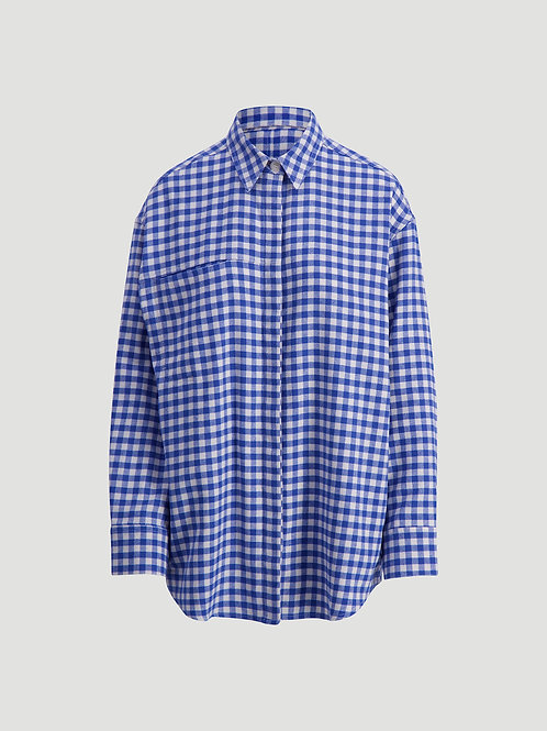 Holzweiler Daisy Check shirt blue check