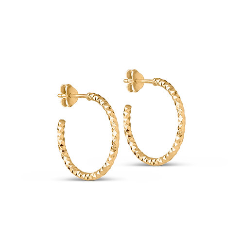 Enamel Diamond Cut Small Earring