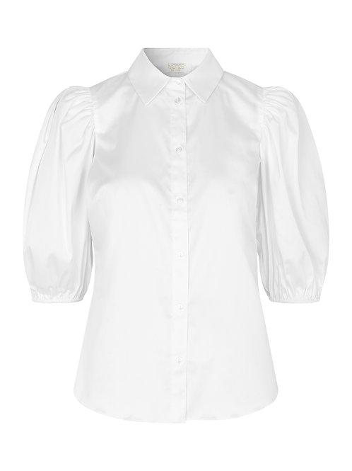 NOTES Du Nord Kira Short Sleeve Shirt white