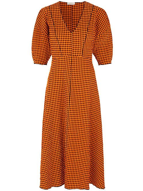 Notes du Nord Riley Dress orange Check