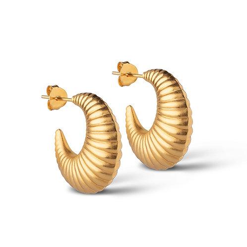 Enamel Cornelia Large Hoops Earring