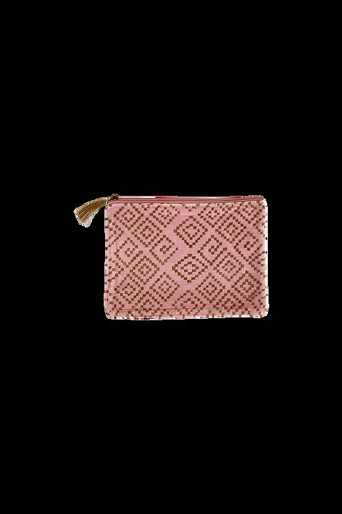 Amber velvet Pouch rosa