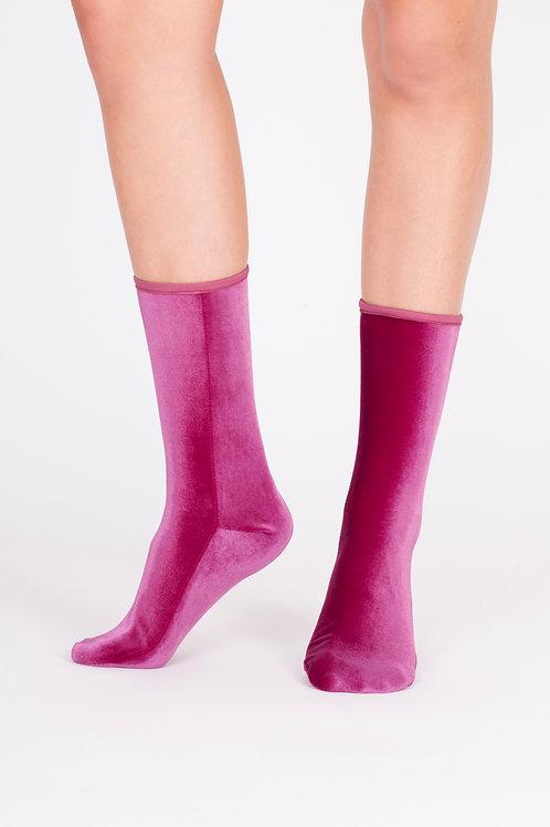 Velvet Socks magenta