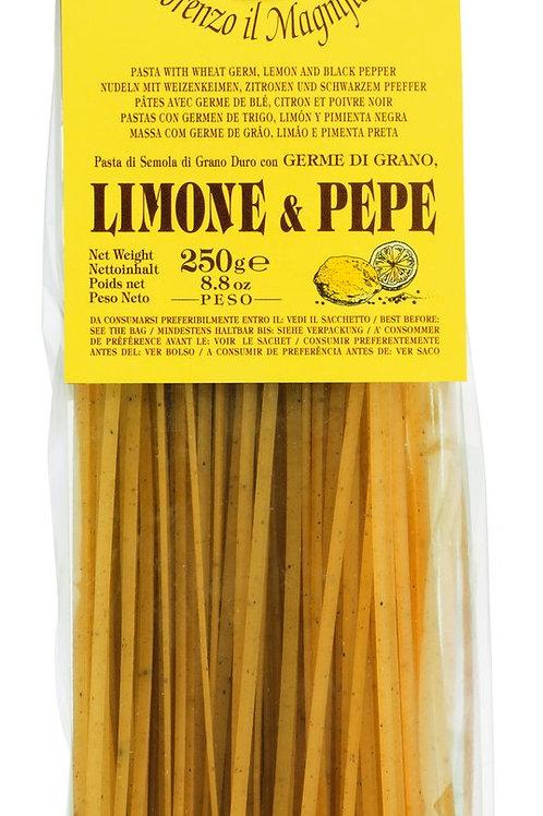 Linguine mit Zitrone und Pfeffer LORENZO IL MAGNIFICO, ITALIEN  Hartweizengrießn