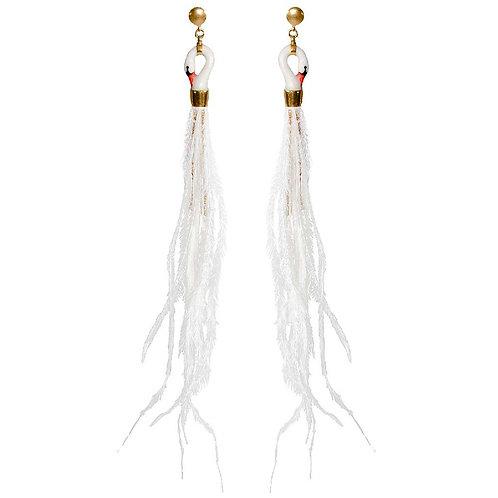 White swan earring NACH Bijoux
