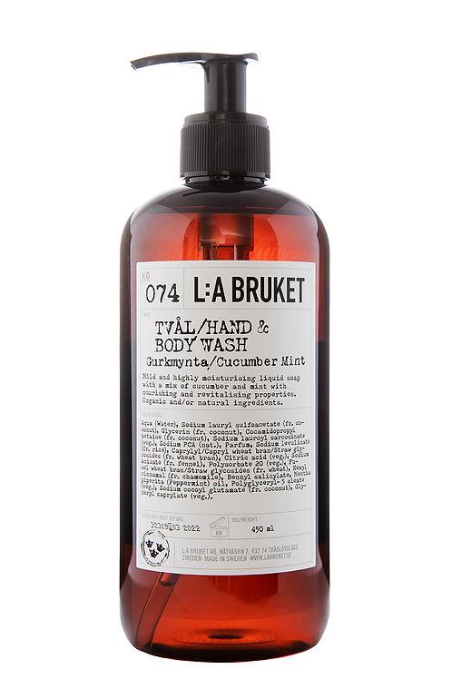 L:A Bruket 074 Hand & body wash Gurke Mynte, 450 ml