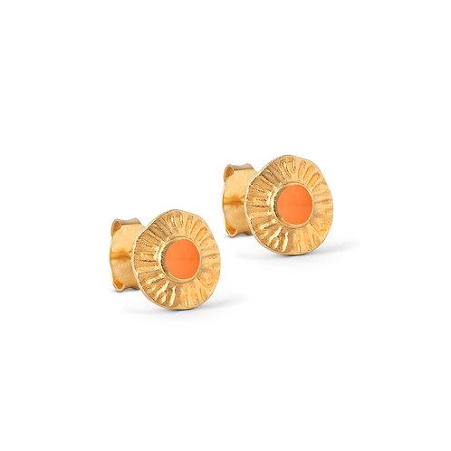 Enamel Shell Stud Earring