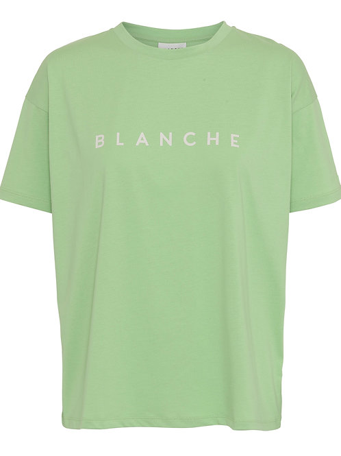 BLANCHE Main contrast T-shirt Jade Lime