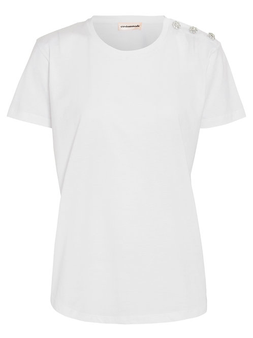 CUSTOMMADE Molly Crystal TopTshirt white