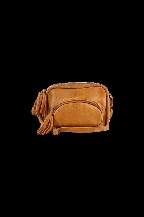 ELVIRA tassel bag tan