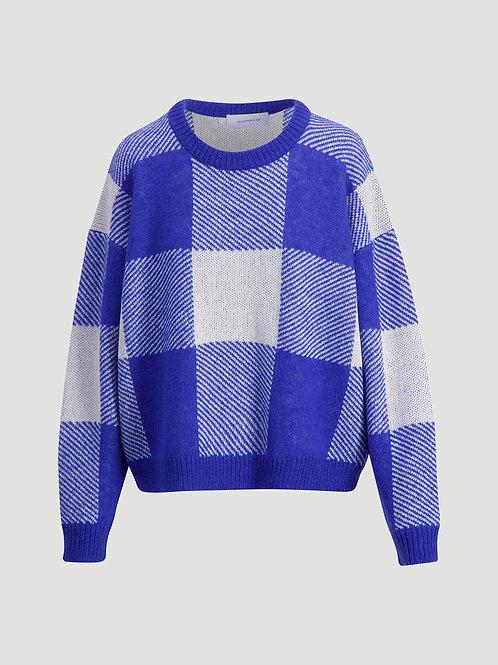 Holzweiler Tipps Knit Sweater blue check