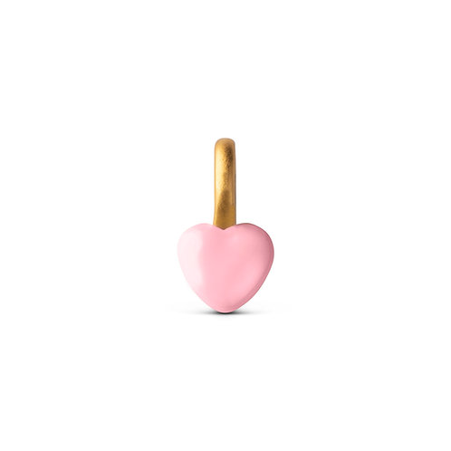 Enamel Charm Heart rose