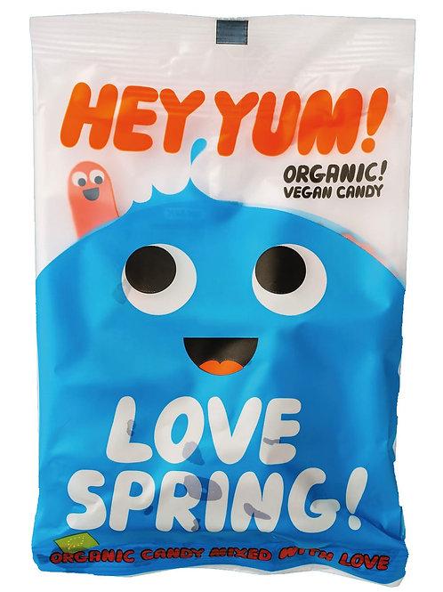 Love Spring HEY YUM! Fruchtgummis mit Erdbeere, Orange, Cassis, Preiselbeere, Di