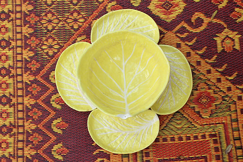 Designer Yellow Cabbage Serving Set