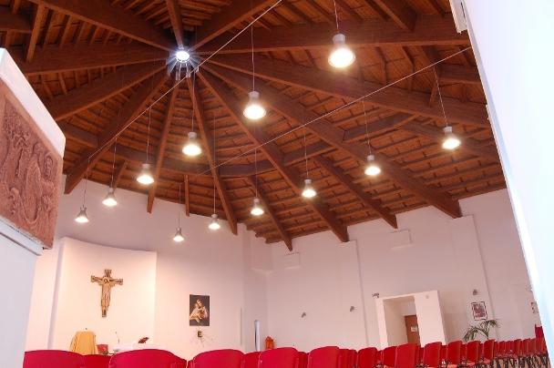 tetto chiese in legno lamellare