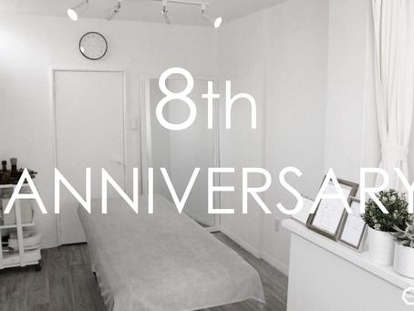 祝 開業8周年記念