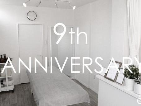 開業 9周年記念