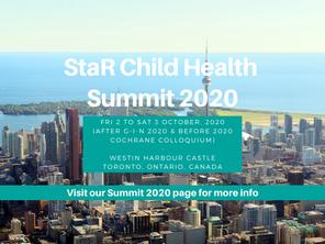 Save the date! StaR Child Health Summit 2020