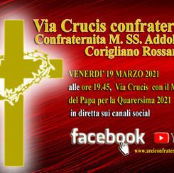 VIDEO DIRETTA: Via Crucis a cura della Confraternita