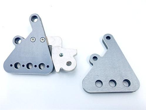 CNC Fussrastenhalter-Set Large grau