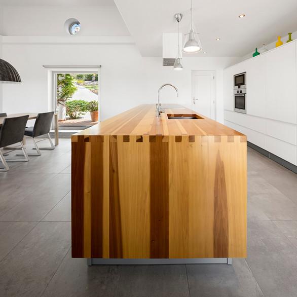 Solid Wood Kitchen Island