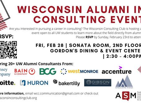 Wisconsin Alumni in Consulting Event 2020