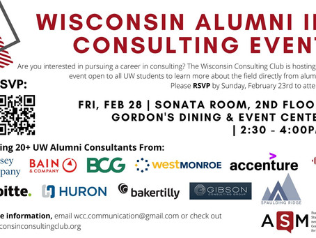 Wisconsin Alumni in Consulting Event 2020