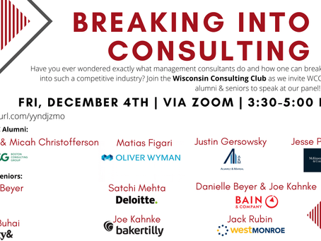Breaking Into Consulting - Fall 2020