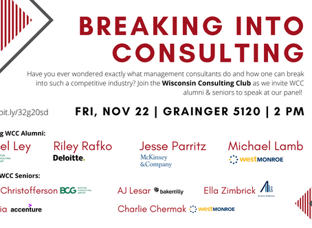Breaking into Consulting Panel