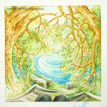 Maja-Bogaczewicz_2016 Am-Fluss-Bild-Nr4_Aquarell_11x11cm