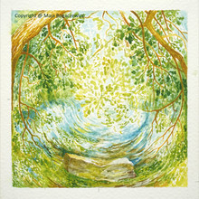 Maja-Bogaczewicz_2015 Am-Fluss-Bild-Nr1_Aquarell_11x11cm