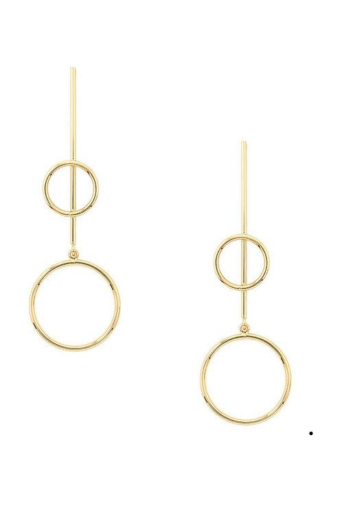 Silhouette Drop Earrings